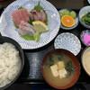 まる信 食堂 - 料理写真:生本鮪中とろ・黒むつ・石がき鯛の定食