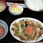 16062591 - レバ野菜炒め定食