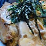 よこかわ - 【2012年11月下旬】玉子丼接写。