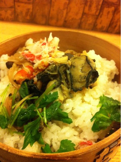 梓 - 牡蠣かホタテと選べました。牡蠣を選択!