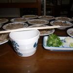 そば福 - 皿そば1人前(5皿) 750円