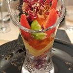 レストラン 間 - AIDAスペシャリテ 季節の野菜パフェ