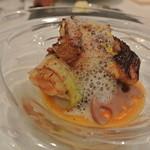 レストラン 間 - 太刀魚と牡蠣の包み焼き