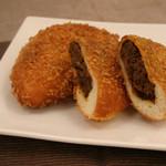 フルールブラン  - 料理写真:【カレーパン】じっくり煮込んだお肉たっぷり自家製ルー使用!!もちもちサックリ食感です。