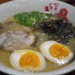 うま馬 - 源流 博多ラーメン~煮玉子・きくらげトッピング~☆