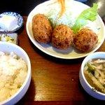 しすい亭 - クリームコロッケ定食!