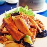 中国料理 The Orchid - スペシャルランチのメイン、揚げ豆腐のピリカラ炒め