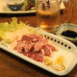 むつ五郎 - 2012.11 馬刺(2,200円)、コーネ刺(400円)