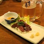 むつ五郎 - 2012.11 馬レバー刺(900円)