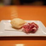 日本料理 たかむら - スペインハモンセラーノ18ヶ月熟成 パンツォーネ