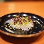 日本料理 たかむら - クエのカルパッチョ