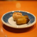 日本料理 たかむら - モンブランと茄子の甘煮