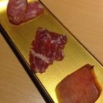 天香回味 - 前菜(台湾腸詰、馬刺し、からすみ)