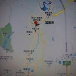 久國紅仙堂 - 地図:箕面国定公園はとても広く、ハイキングコースが多くあります