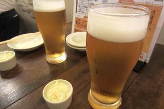 北浜ダイナー - 生中モルツ¥380