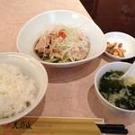 16081429 - 蒸し鶏のネギ生姜醤油ソース