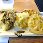 小来川 山帰来 - ゆばと季節の野菜の天ぷら