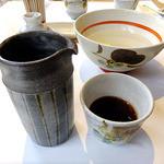 小来川 山帰来 - 食後の蕎麦湯