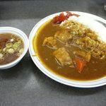 16087005 - カレーライスには中華スープもつきます@2012/11