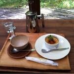 16087388 - 黒豆豆乳クリームブリュレとアールグレイ
