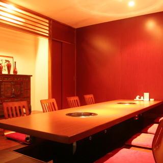 全室個室でお客様だけのくつろぎの空間でお食事を!