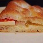 手づくりパン ORANGE - 生ハムとモッツアレラチーズ ¥300(断面)