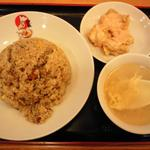 Chao一番 - 揚げダコ炒飯+明太ソースの唐揚げ