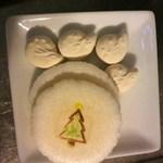 16093020 - 鹿の型の落雁とクリスマスツリーのお干菓子