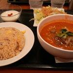 中国麺家 - 半ラーメン・半チャーハンセット