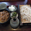 Owariya - 料理写真:カルビ丼セットもりそば