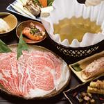 郷土料理・黒豚しゃぶ鍋・ぞうすい 八幡 - 黒毛和牛コース