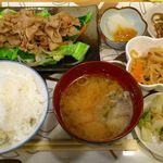 もつ九 - もつ九 @上板橋 しょうが焼定食 これでなんと500円!