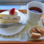ケーキハウス - ケーキセット600円