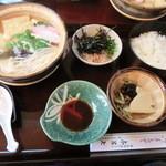 与呂七 - 料理写真:湯豆腐定食「梅」1300円