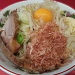 赤ひげラーメン - 780円『まぜそば』 (無料トッピング:野菜多め ニンニク)2012.11