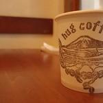ハグコーヒー - お冷の紙コップにもかわいいセンス