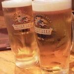 すし旬 - とりあえずビール並べます(^^
