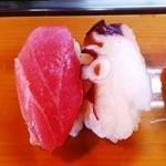 きん寿司 - 料理写真:目鉢まぐろ・タコ