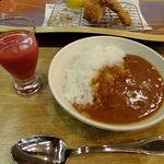 tonkatsuke-waike- - (ノ∇≦❤)食べ放題コーナーからのトマトカレー&トマトジュースGET♫