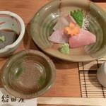稲田屋 - ごま豆腐&刺身