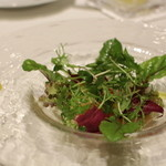 オーグードゥジュール メルヴェイユ 博多 - <前菜1皿※貝が苦手なので変えて頂きました> 糸島産有機温野菜 蟹添え