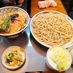 にわ - 野菜天丼+1人前そば 800円