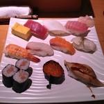 朝日寿司 総本店 - にぎり(1050円)