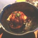 16111394 - 付きだしは、シュークリームの皮で、サラダを包んだもの