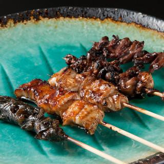 全国でも珍しい鰻串焼き