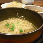 来い家 - つけ麺(温盛)750円
