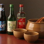 炭火焼肉 ソウル - 韓国産のビールやどぶろくで・・・