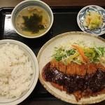 16123444 - 名古屋味噌カツ定食