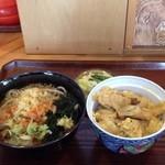 あさ乃食堂 - たぬきそばとミニ親子丼セット