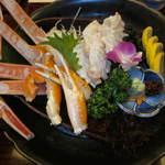 かに通 - ずわい蟹刺身